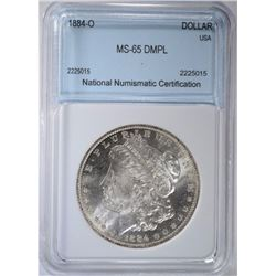 1884-O MORGAN $ NNC GEM BU DMPL