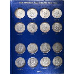 COMPLETE FRANKLIN HALVES SET 1948-63