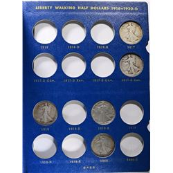 PARTIAL SET WALKING LIBERTY HALVES