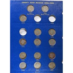 PARTIAL LIBERTY NICKELS SET: 22 COINS