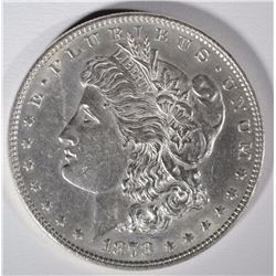1878 7/8F MORGAN SILVER DOLLAR, CH BU - SCARCE