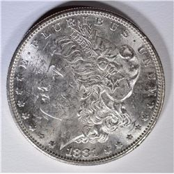 1881-S MORGAN SILVER DOLLAR, BU