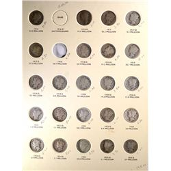 MERCURY DIME SET MISSING  16-D, 18,