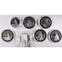 (7) Silver Commemorative Coins