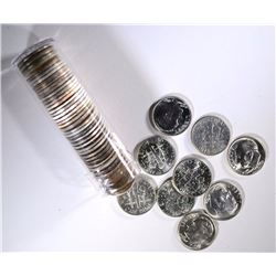 BU ROLL OF BU MIXED DATE SILVER DIMES 1964/EARLIER