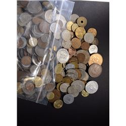 10-POUNDS OF WELL MIXED FOREIGN COINS