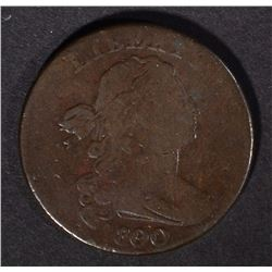 1800/79 DRAPED BUST LARGE CENT, VG+
