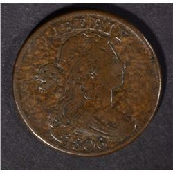 1806 LARGE CENT, VF BETTER DATE