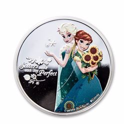 2016 $2 Disney Frozen Sisters Anna and Elsa Niue Silver Coin