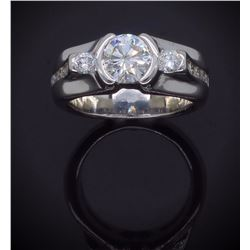 14KT White Gold 1.47ctw Diamond Ring