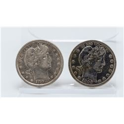 1892 and 1909 Barber Quarters