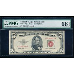 1953B $5 Legal Tender Star Note PMG 66EPQ