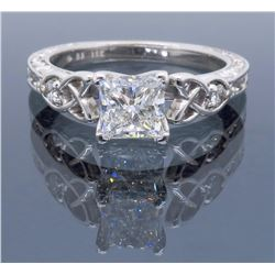 18KT White Gold 0.90ct GIA Cert Diamond Ring