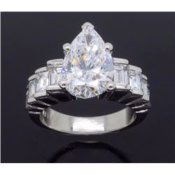 Platinum 3.90ctw Diamond Ring