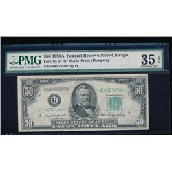 1950A $50 Chicago Federal Reserve Star Note PMG 35EPQ
