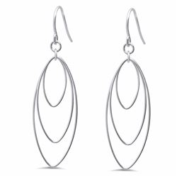 Sterling Silver Polished Dangle Earrings