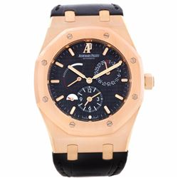 Audemars Piguet Royal Oak Dual Time 18KT Rose Gold Mens Wristwatch