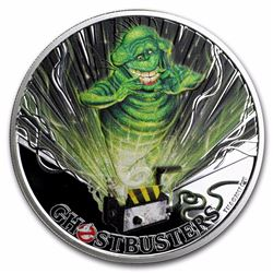 2017 $1 Ghostbusters Slimer Tuvalu 1 oz Silver Coin