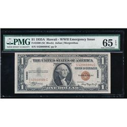 1935A $1 Hawaii Emergency Silver Certificate PMG 65EPQ