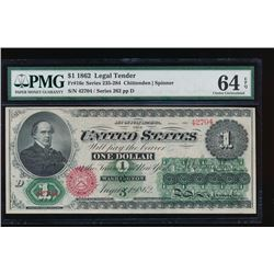 1862 $1 Legal Tender Note PMG 64EPQ