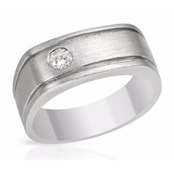 14KT White Gold 0.19ctw Diamond Mens Ring
