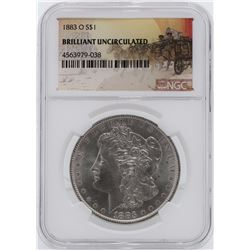 1883-O $1 Morgan Silver Dollar Coin NGC Brilliant Uncirculated