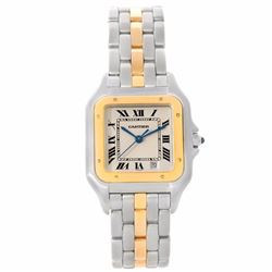 Cartier Panthere Two Tone 18K Yellow Gold Unisex Wristwatch