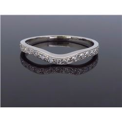 14KT White Gold 0.15ctw Diamond Wedding Band