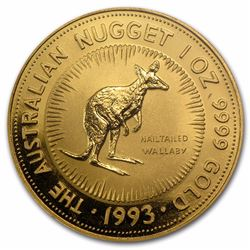 1993 $100 Australia 1 oz Gold Nugget