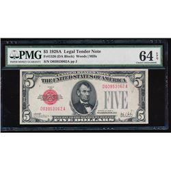 1928A $5 Legal Tender Note PMG 64EPQ