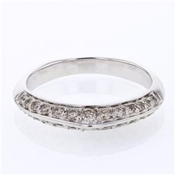 14KT White Gold 0.49ctw Diamond Ring