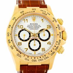 Rolex Cosmograph Daytona 18KT Yellow Gold Mens Wristwatch