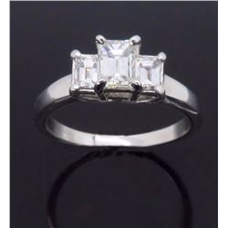 14K White Gold 0.96ctw Diamond Ring