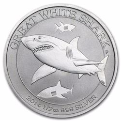 2014 Australia Great White Shark 1/2 oz Silver Coin