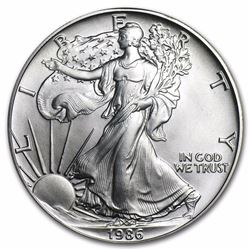 1986 1 oz American Eagle Silver Coin