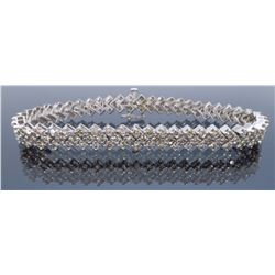 14KT White Gold 4.00ctw Diamond Bracelet