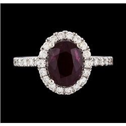 14KT White Gold 2.34ct Ruby and Diamond Ring
