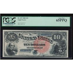 1880 $10 Legal Tender Note PCGS 65PPQ