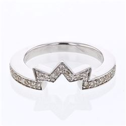 14KT White Gold 0.28ctw Diamond Wedding Band