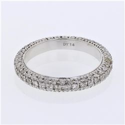 14KT White Gold 1.14ctw Diamond Ring
