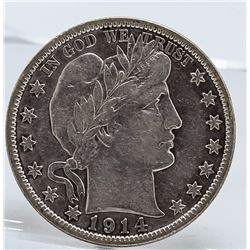 1914-S Barber Half Dollar Coin