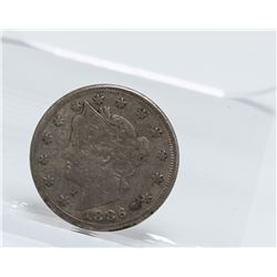 1886 Liberty Head V Nickel Coin