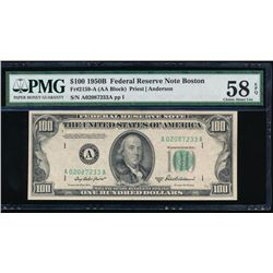 1950B $100 Boston Federal Reserve Note PMG 58EPQ