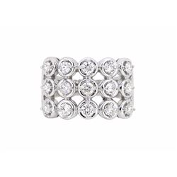 14KT White Gold 1.02ctw Diamond Ring