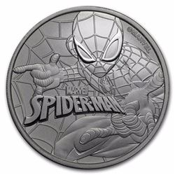 2017 $1 Marvel Spiderman Tuvalu 1oz Silver Coin