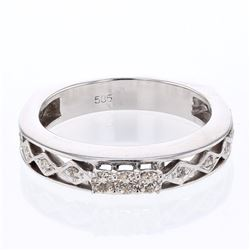 14KT White Gold 0.19ctw Diamond Ring