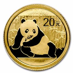2015 China Panda 1/20 oz Gold Coin