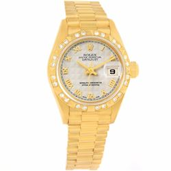 Rolex President 18KT Yellow Gold Diamond Ladies Wristwatch