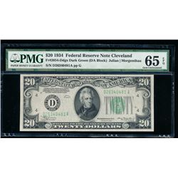 1934 $20 Cleveland Federal Reserve Note PMG 65EPQ