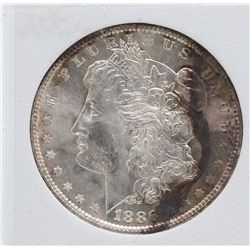 1886 $1 Morgan Silver Dollar Coin Toning